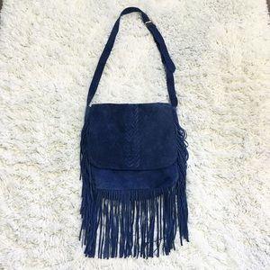 Navy Blue Messenger Bag